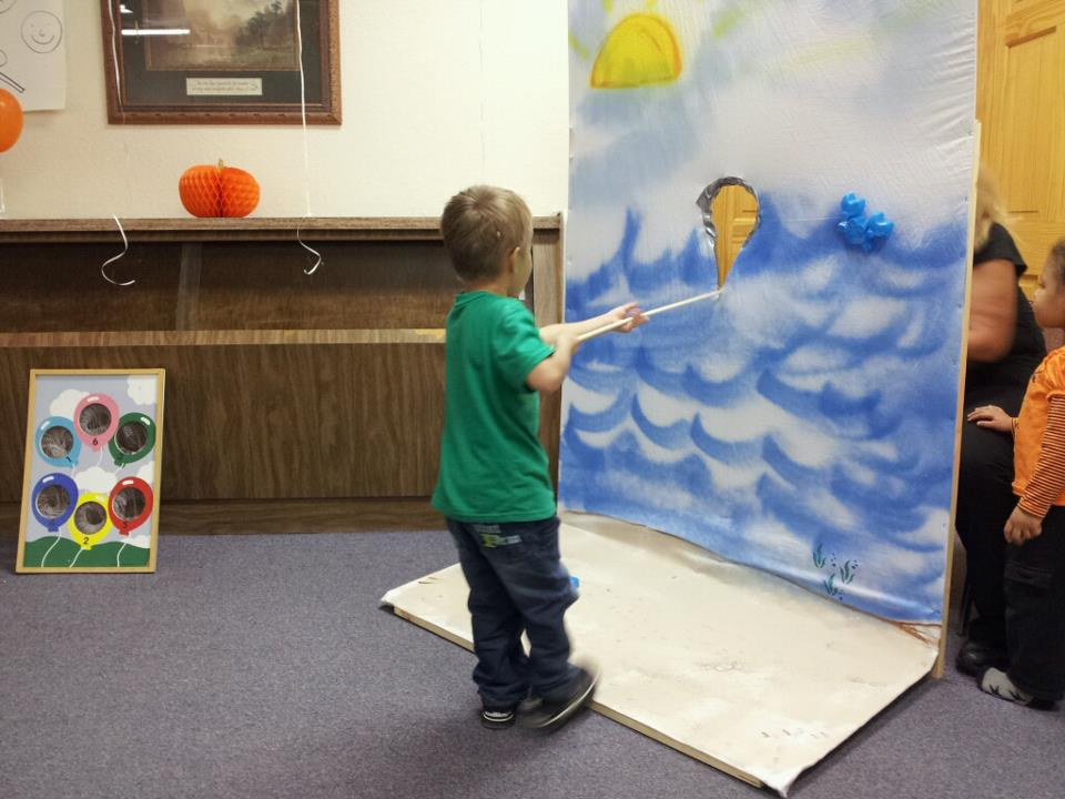 Painting at TCF children's class